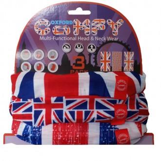OXFORD Comfy Union Jack kołnierz bandana komin x3